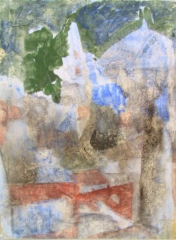 """ santo sepolcro "" -2600, cm. 46x61, mixed media on wood, private collection"